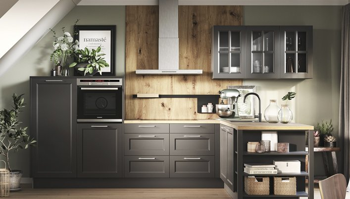 Houten keukenwand inspiratie | Satink Keukens