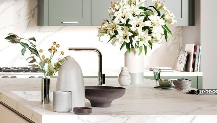 Marmeren keukenblad | Satink Keukens