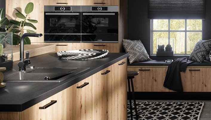 Zwarte keuken handgrepen | Satink Keukens